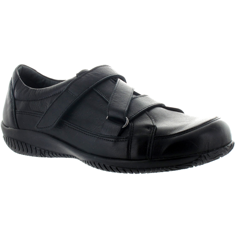 Maria svart sko med engrepps z-kardborre