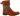 Katja orange stövel med brokadtyg, dragkedja